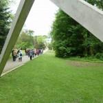 """Skulptur """"Concrete Erection von Francois Morellet"""